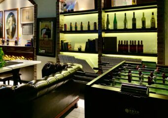 Cathedral Cafe with Painting Fooseball and Seating Downstairs Macau Lifestyle