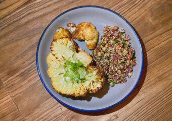 Cauliflower Steak with Organic Quinoa common table taipa macau