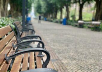 Dr Carlos DAssumpcao Garden Chairs in Corridor Macau Lifestyle