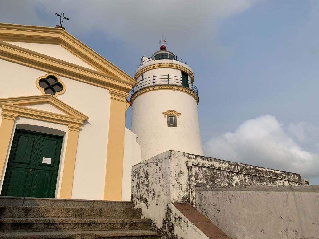 Historic Centre of Macao Guia Church and Lighthouse from the Side Macau Lifestyle