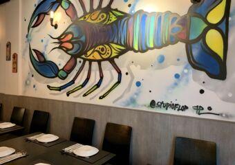 Kings Lobster Grafitti on the Wall Macau Lifestyle