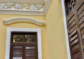 Macau Tea Culture House Yellow Outside Macau Lifestyle