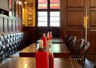 Old Taipa Tavern OTT Interior Seats with Sauces on the Table Macau Lifestyle