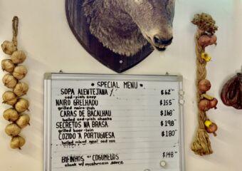 Petisqueira Interior Animal Head on the Wall and Board Menu Macau Lifestyle