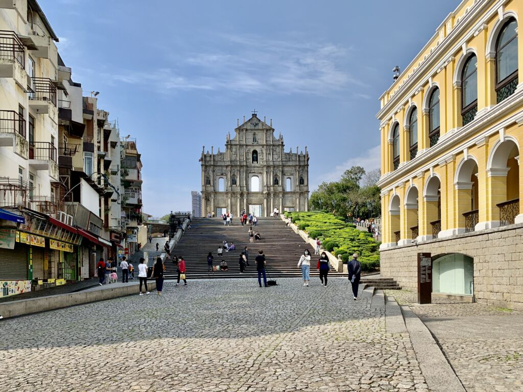 Ruins of St Paul From Afar Macau Lifestyle