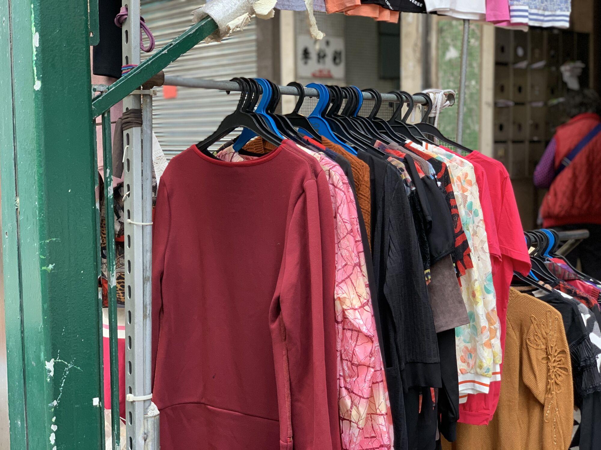 Street Stalls in Barra Clothing Stall Macau Lifestyle