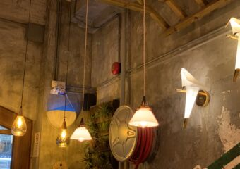TOFF Cafe Ceiling Lamps with Wooden Wall Macau Lifestyle