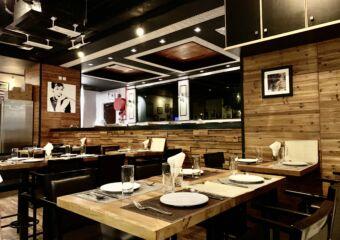Taipa Cafe Interior with Painting on the Background Macau Lifestyle