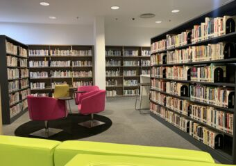 Taipa Central Park Library Book Shelves Macau Lifestyle