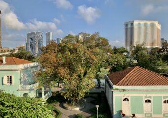 Taipa Houses Sunny Day at Carmo Municipal Garden Macau Lifestyle