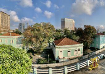 Taipa Houses from Carmo Municipal Garden Panoramic Macau Lifestyle