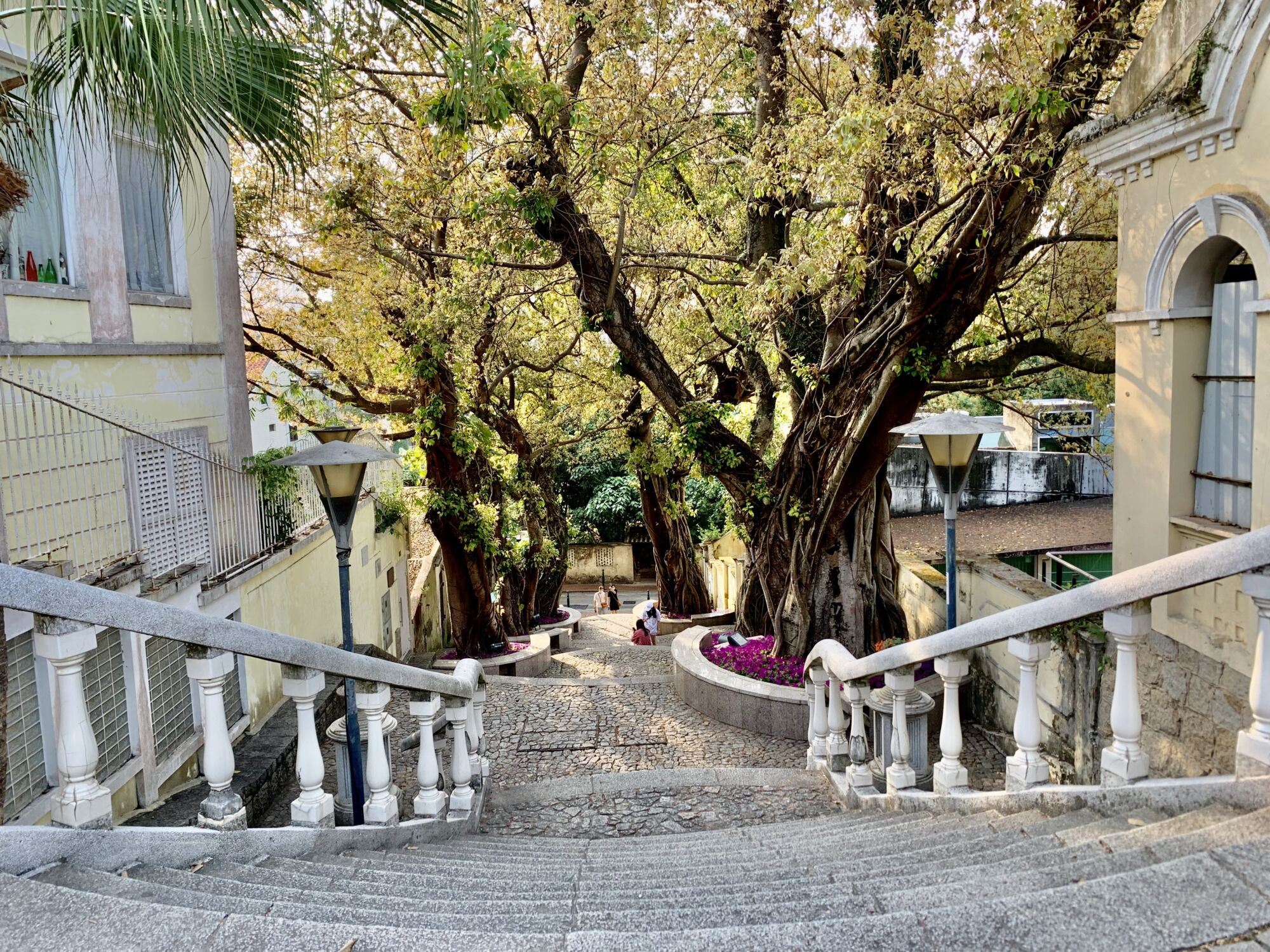 Taipa Village old street stairs