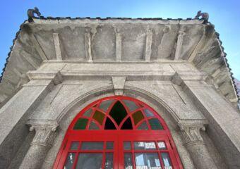 chinese octagonal pavilion macau close-up