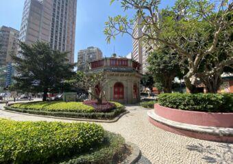 chinese octagonal pavilion macau park