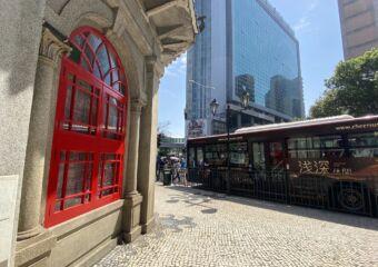 chinese octagonal pavilion macau window bus