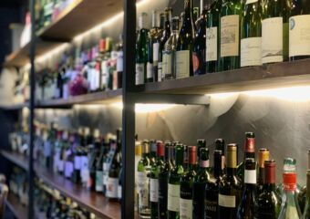 Agora Bar Wine Bottles Shelves Macau Lifestyle