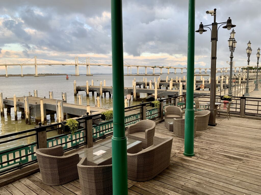 Capriccio Fishermans Wharf Outside Low Seats Macau Lifestyle