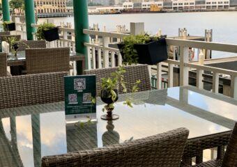 Capriccio Fishermans Wharf Outside Terrace Tables Close Up Macau Lifestyle