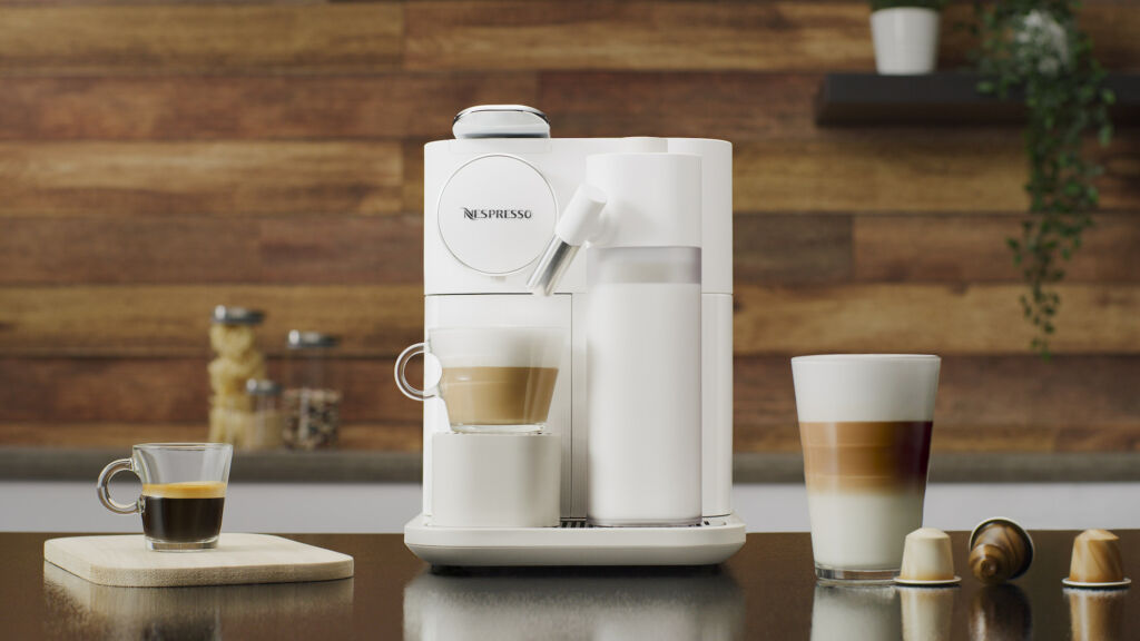 Gran Lattissima fresh vitality – Front View With Recipes gift ideas mothers day Nespresso