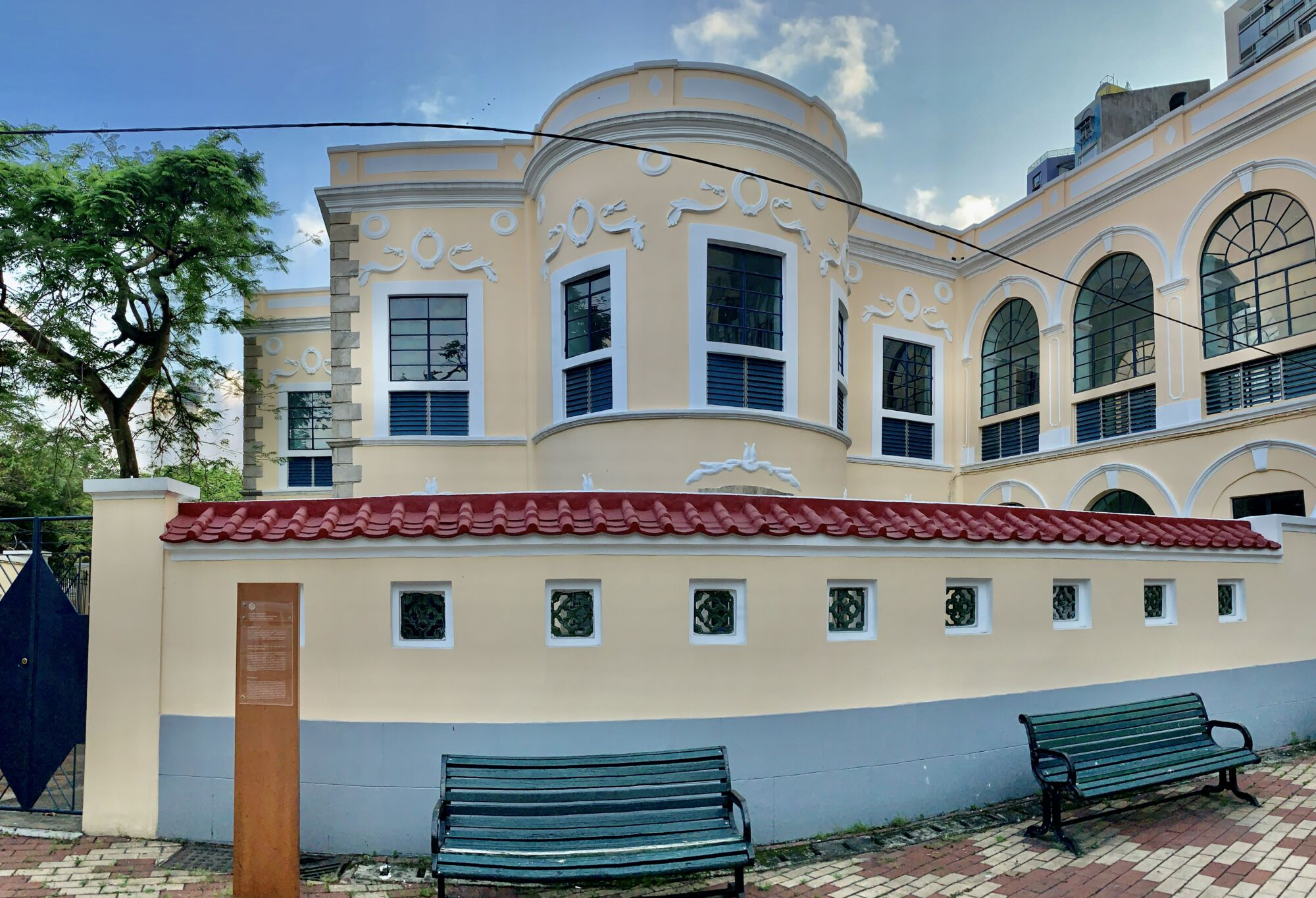 Old Ricci Heritage Panoramic Yellow Building in Sai Van Macau Lifestyle historical stories Macau