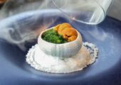 PANO Apple Wood Smoked Organic Broccoli Royale with Hokkaido Sea Urchin june hong kong