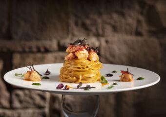 Portofino homemade tajarin pasta lobster sauce May Events Macau