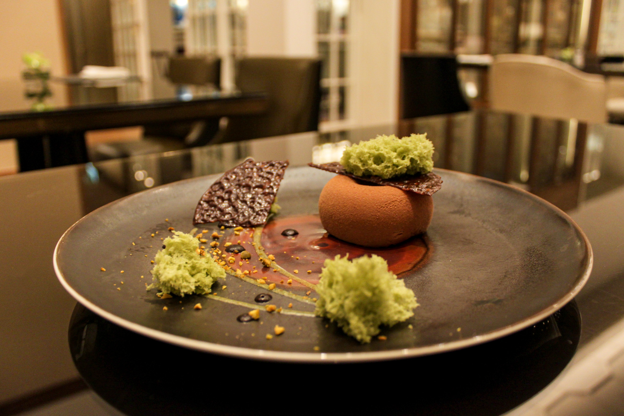 domori madagascar chocolate and pistachio cake let's have lunch in spring the manor st regis macao