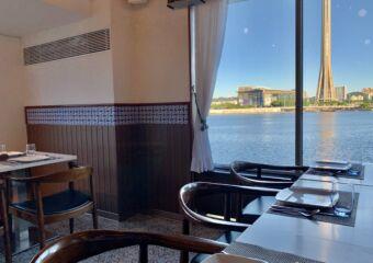 1826 Restaurante Tennis Club Indoor Table by the Window Macau Lifestyle