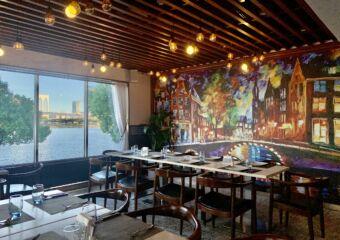 1826 Restaurante Tennis Club Indoor Window and Wall Macau Lifestyle