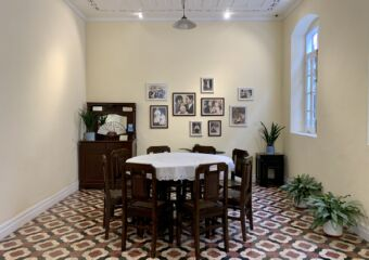 General Ye Ting Former Residence Indoor Dining Room and Pictures on the Wall Macau Lifestyle
