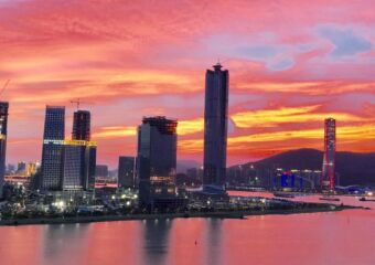 Hengqin during sunset