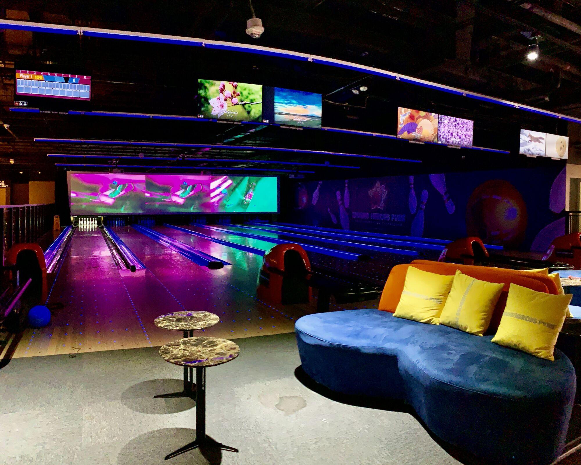 Heroes Park Studio City Bowling Alley with Sofa Macau Lifestyle