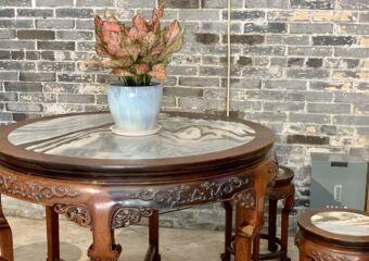 Lou Kau Mansion Table Interior Macau Lifestyle