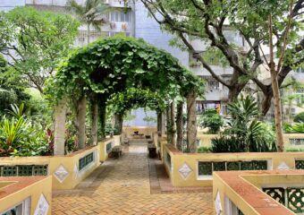 Sir Robert Ho Tung Library Behind Patio Exterior Macau Lifestyle