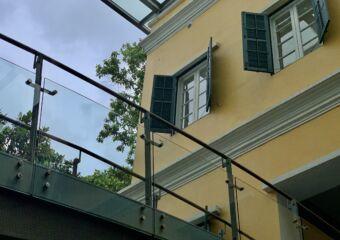 Sir Robert Ho Tung Library Second Floor with Glass Bridge Macau Lifestyle