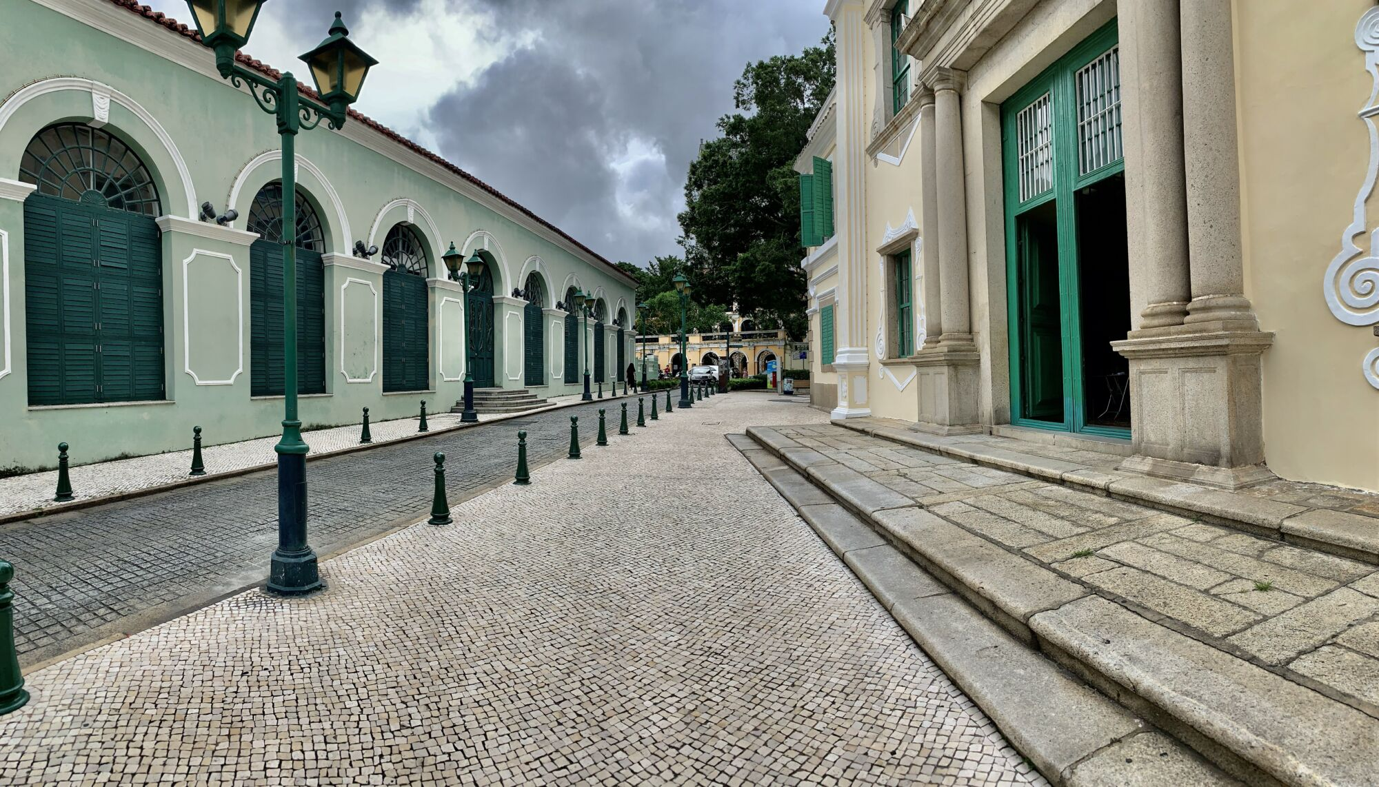 St Augustine Church Outdoor Entrance Panoramic Macau Lifestyle