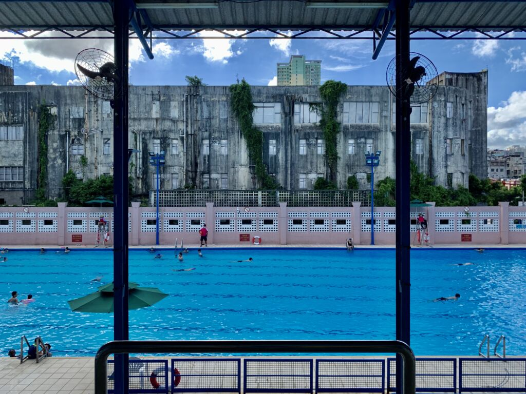 Tap Seac Estoril Swimming Pool Wide View from Upstairs Macau Lifestyle