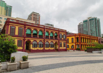 Left view of the exterior of the Macau Historical Archives