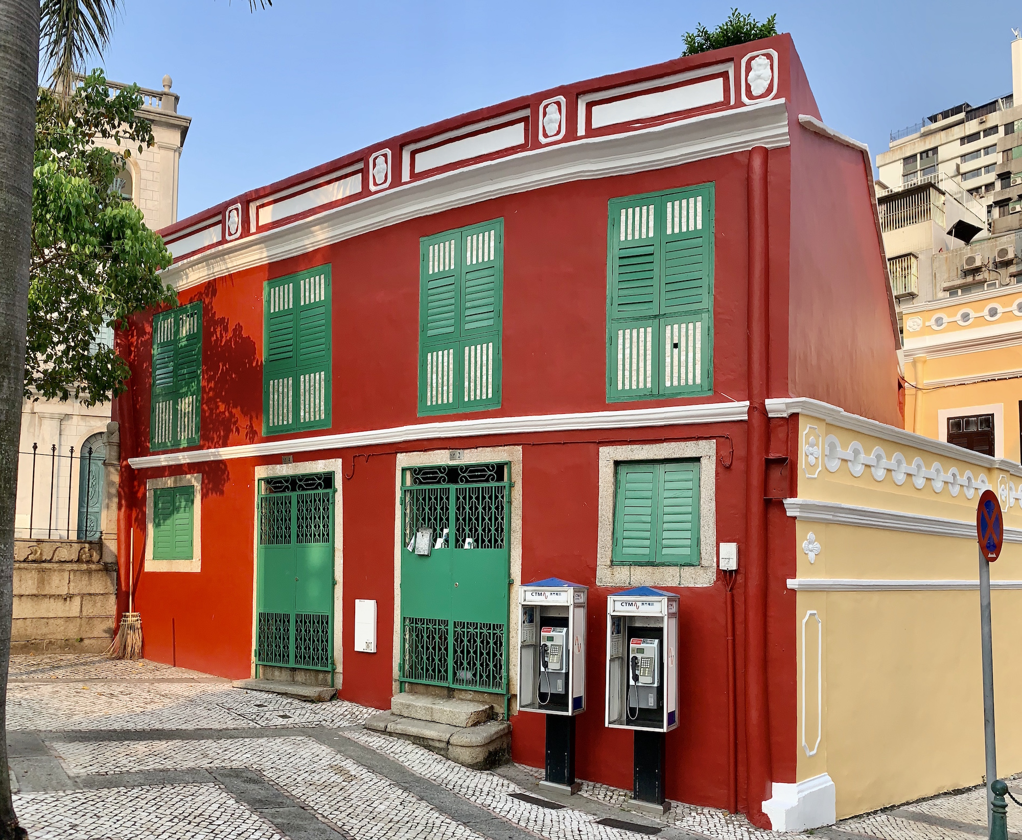 Red Building in St Lazarus Beside the St Lazarus Church Macau Lifestyle