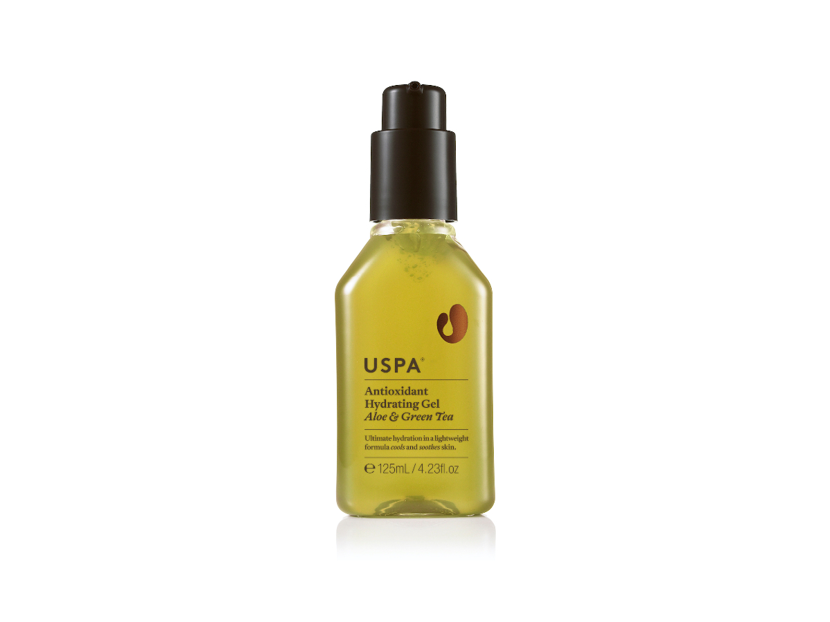 Uspa antioxidant hydrating gel aloe and green tea