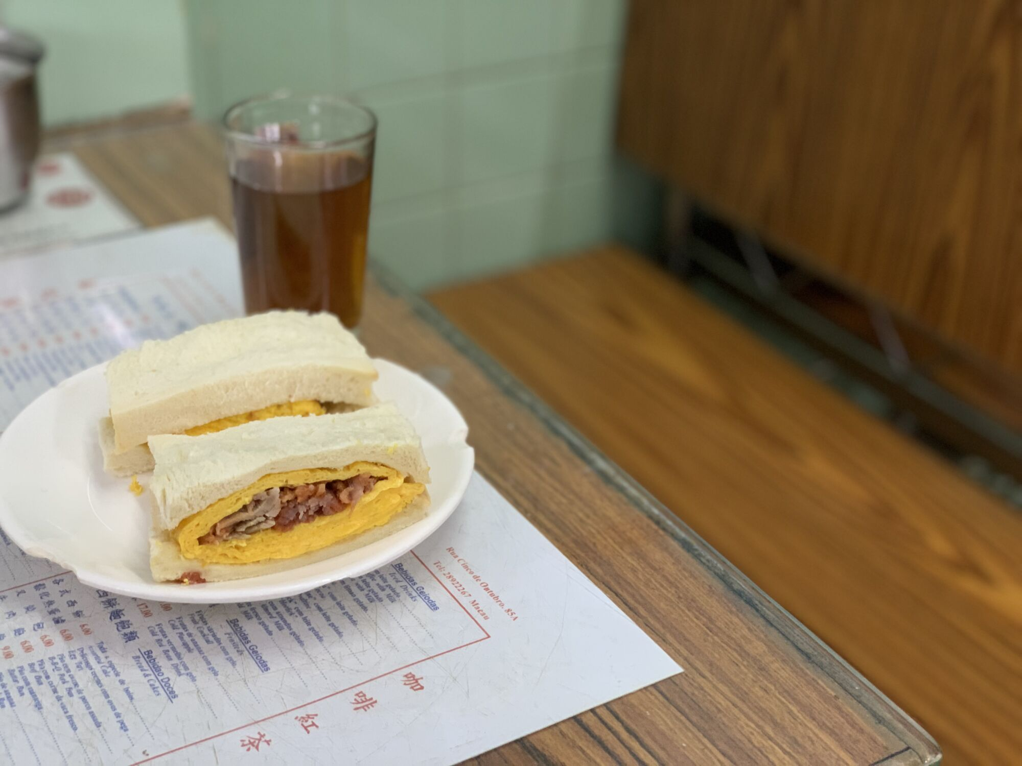 Char Siu and Egg Sandwich from Nam Ping Macau Lifestyle