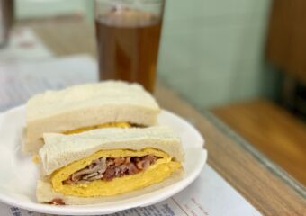 Char Siu and Egg Sandwich on the Table Macau Lifestyle
