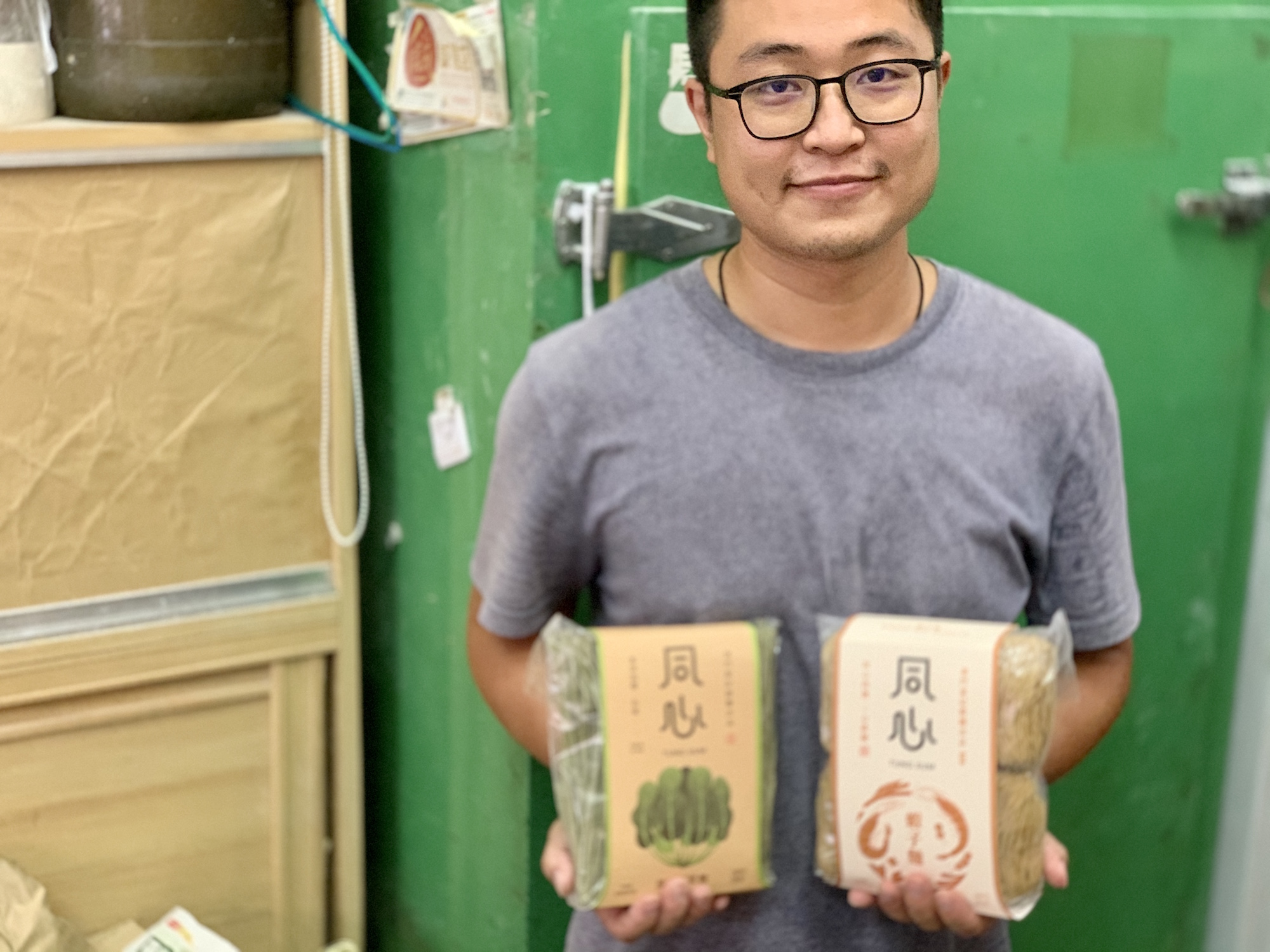 Cheong Kei Noodles Owner Holding Noodles Inside Macau Lifestyle