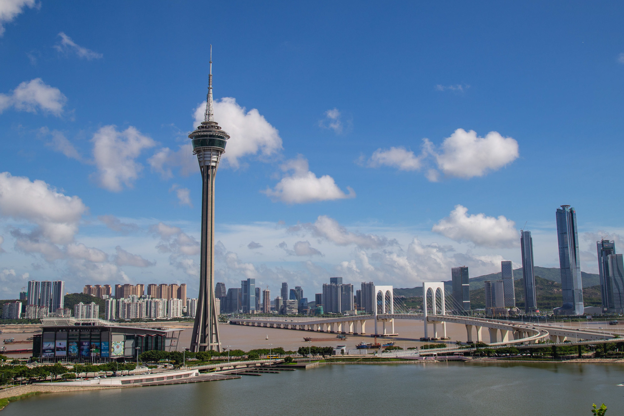 Nam Vam and Macau Tower Skyline 1