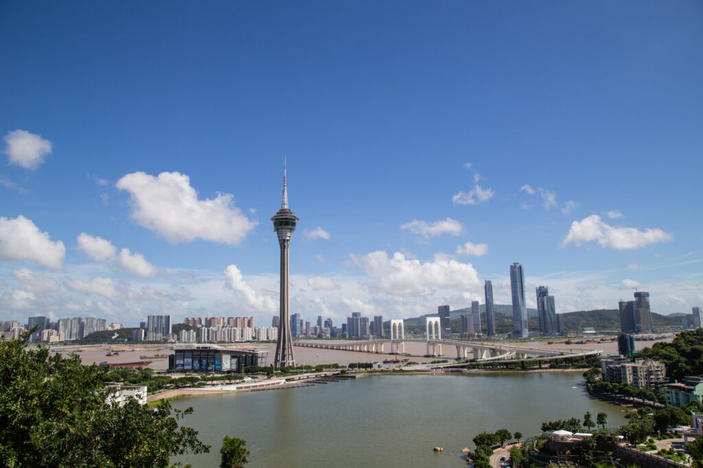 Nam Vam and Macau Tower Skyline 2