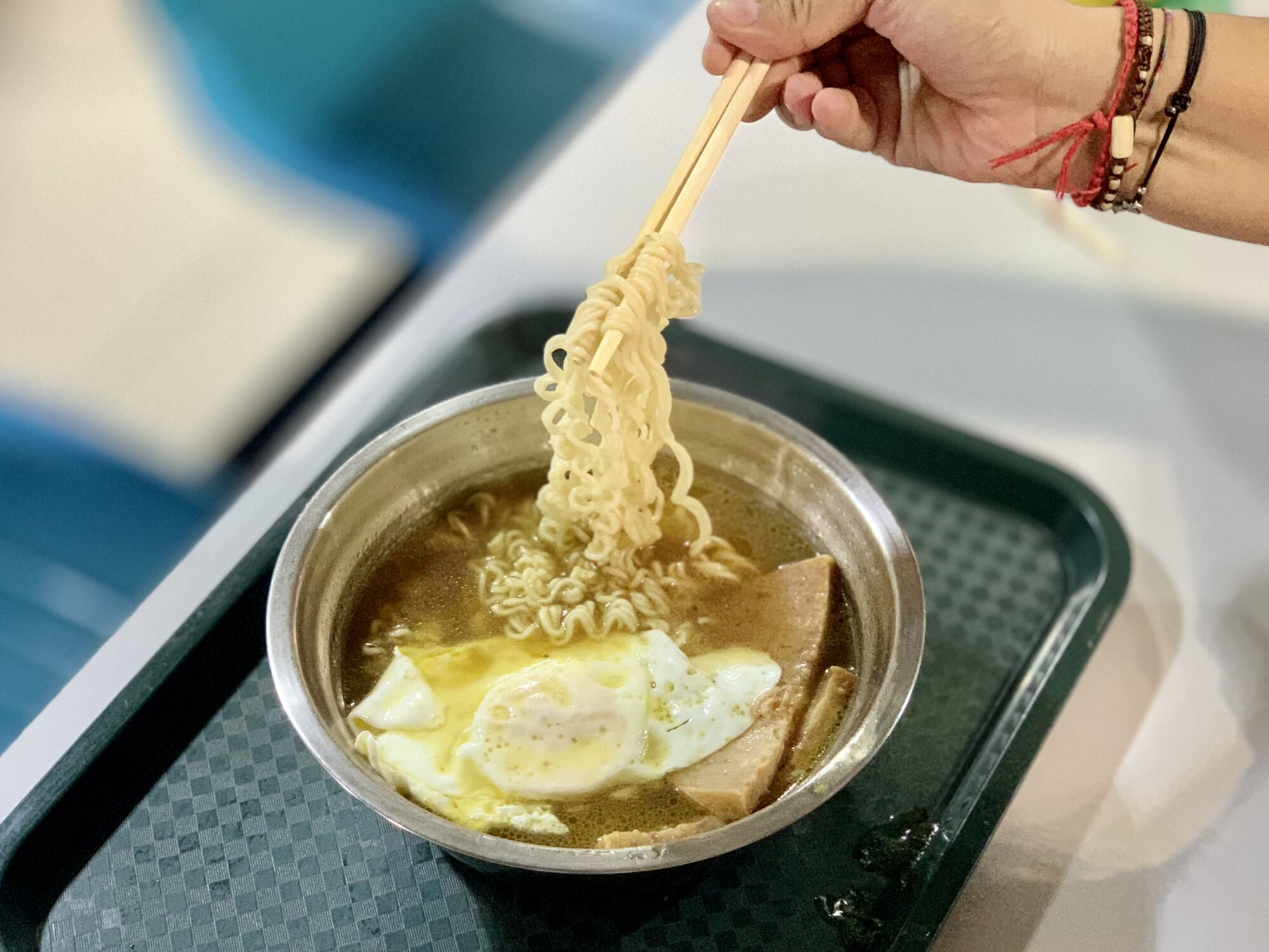 Noodles with Preserved Meat and Egg Iao Hon Market Macau Lifestyle