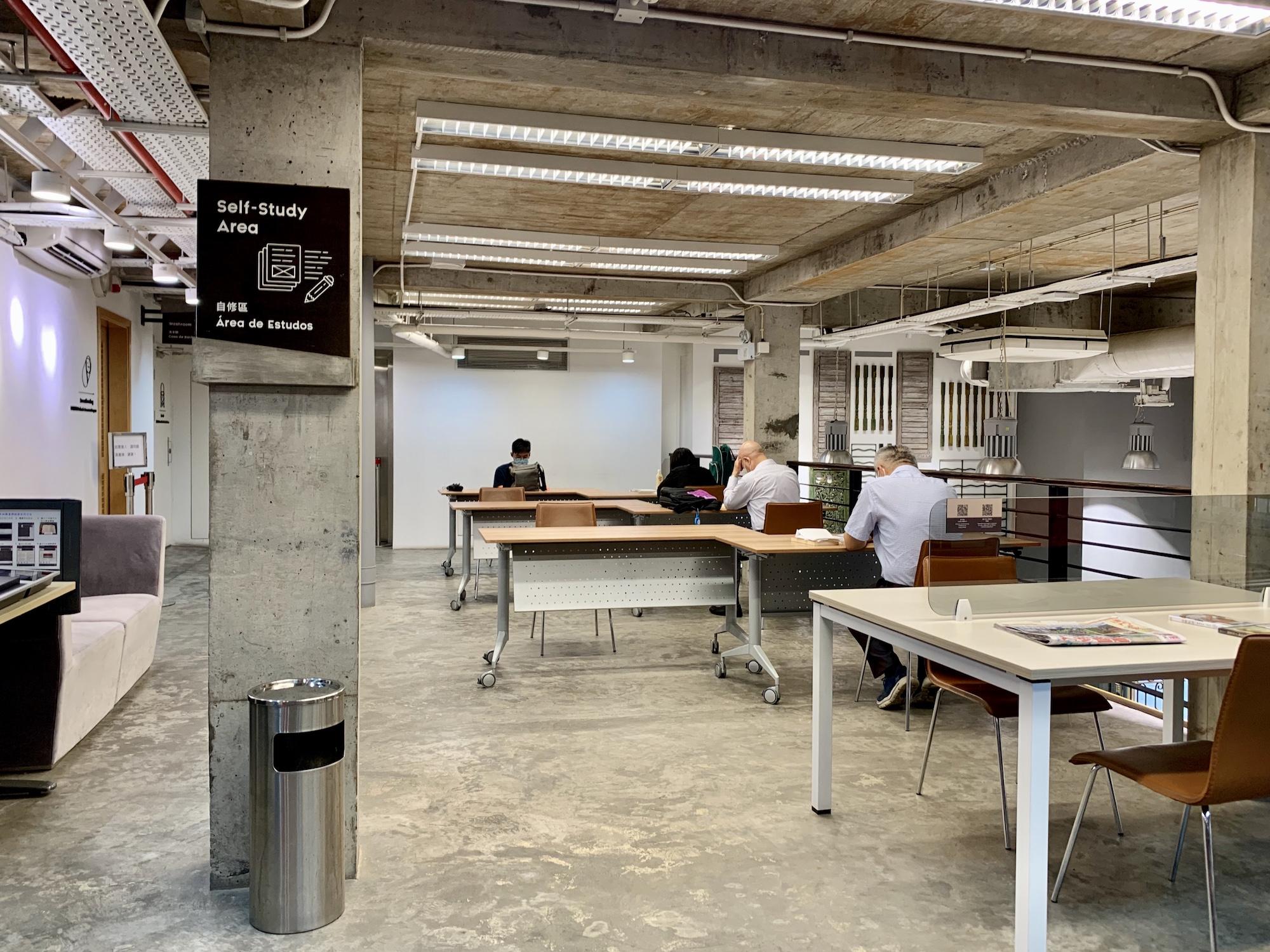 Patane Library Interior Self Study Area Macau Lifestyle