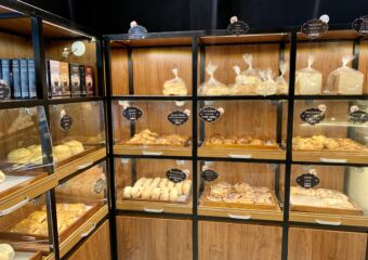 Portuguese Bakery Interior Shelves with Bread Macau Lifestyle