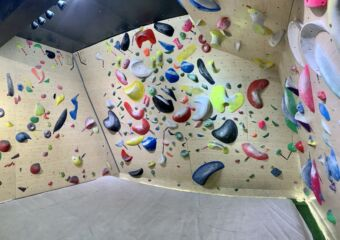 Solution Climbing Gym Wall Interior Wide View Lifestyle