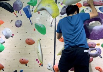 Solution Climbing Gym Wall with Person Macau Lifestyle